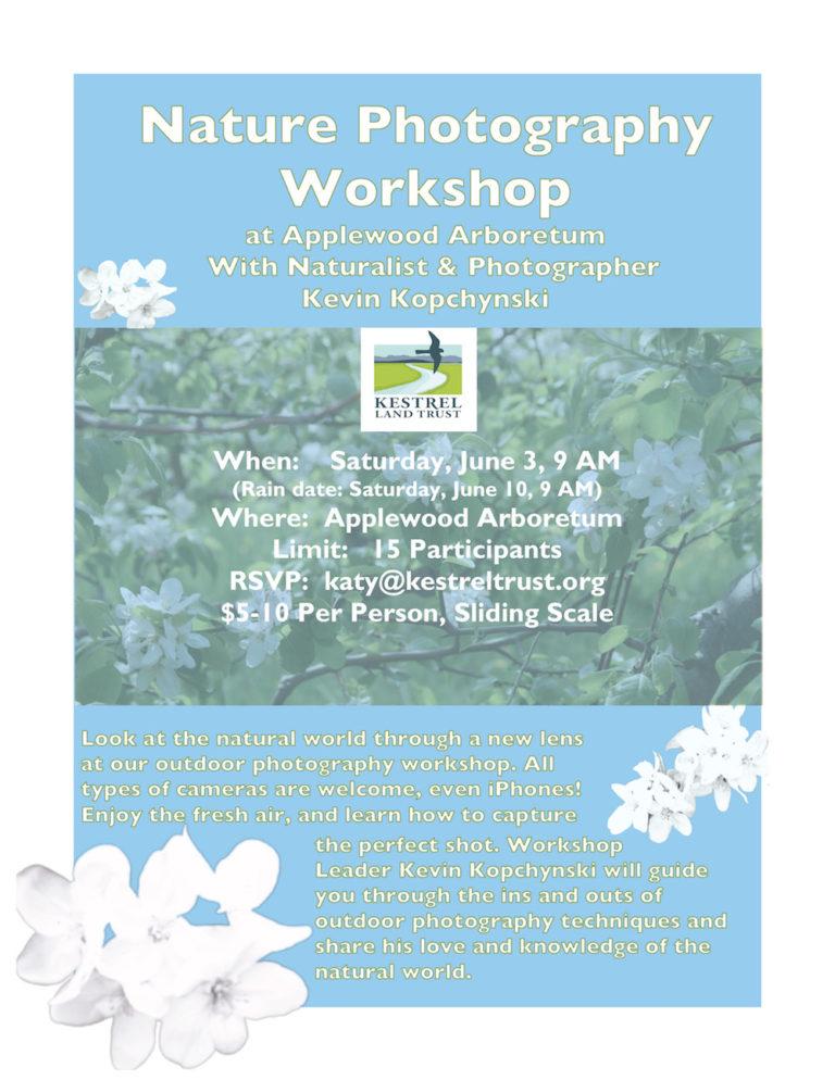 Kestrel Land Trust Workshop Poster